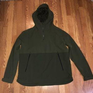 Green H&M Lightweight Quarter Zip Jacket XL